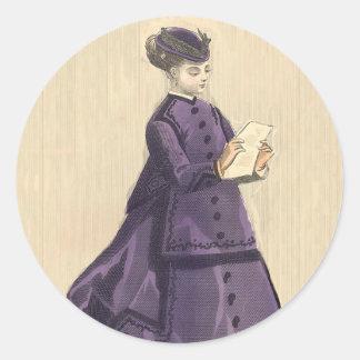 Victorian Dress Round Sticker