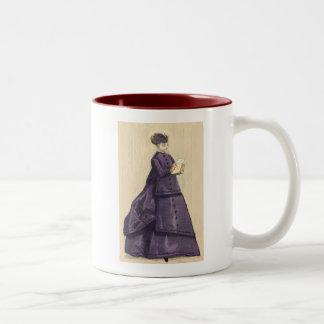 Victorian Dress Two-Tone Coffee Mug