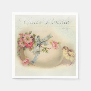 Romantic easter gifts on zazzle ca victorian easter chic and egg paper napkin negle Choice Image