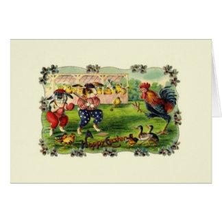 Victorian Easter Rabbit Baseball Greeting Card