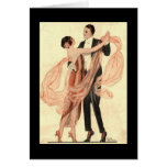 Victorian Edwardian Couple Dancing Greeting Card