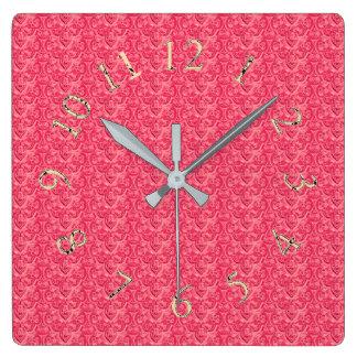 Victorian-Elegant-Rose-Gold-Round-SQ Square Wall Clock