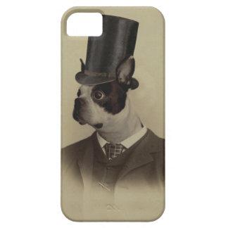 Victorian era boston terrier iPhone 5 case