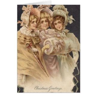 Victorian Era Christmas Carolers Card