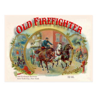 Victorian Era Old Firefighter Postcard