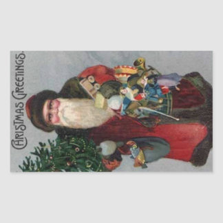 Victorian Era Santa Christmas Sticker