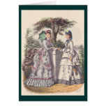Victorian Era Women's Fashion Greeting Card