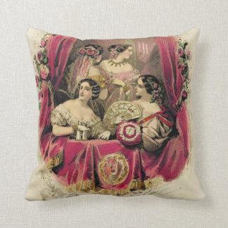 Victorian Era Women's Fashion Throw Pillow
