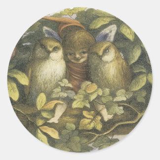 Victorian Faerie Sticker -  Faerie with birds