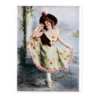Victorian Fairy dancer postcard
