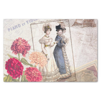 Victorian Fashion Collage Tissue Paper