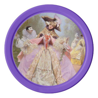 Victorian Fashion Costumes Masquerade Ball Set Of Poker Chips