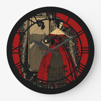 Victorian Fasion Plate Revamped Large Clock