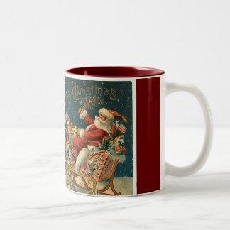 Victorian Father Christmas Two-Tone Coffee Mug