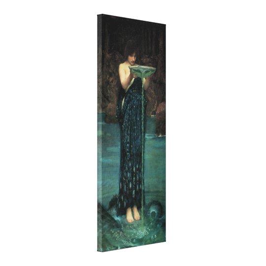Victorian Fine Art, Circe Invidiosa by Waterhouse Canvas Print