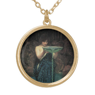 Victorian Fine Art, Circe Invidiosa by Waterhouse Gold Plated Necklace