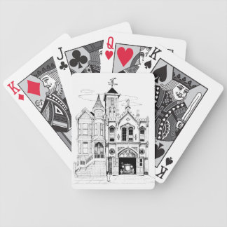 Victorian Fire Station deluxe black and white Poker Deck