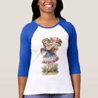 Victorian Floral Angel T-Shirt