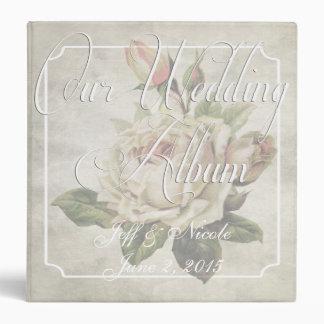 Victorian Floral Custom Wedding Photo Album 3 Ring Binder