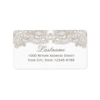 Victorian Floral Lace Vintage Design White Label