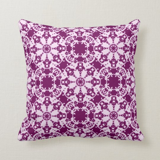 victorian floral pattern throw pillow