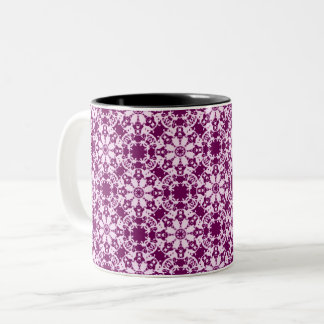victorian floral pattern Two-Tone coffee mug