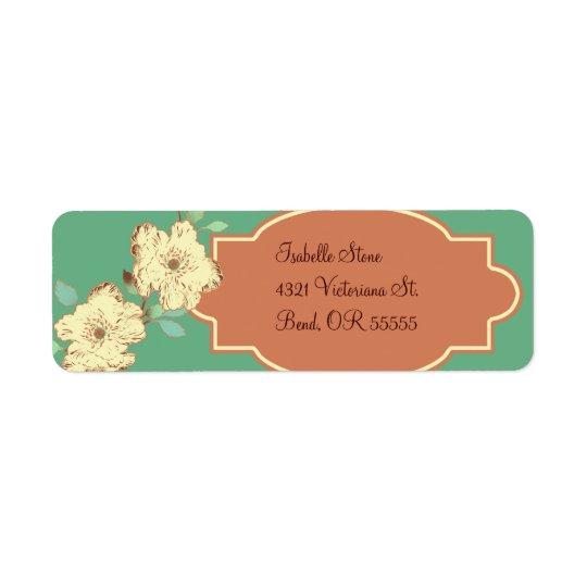 Victorian Floral Return Address Label