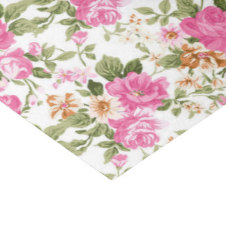 Victorian floral rose pattern tissue paper