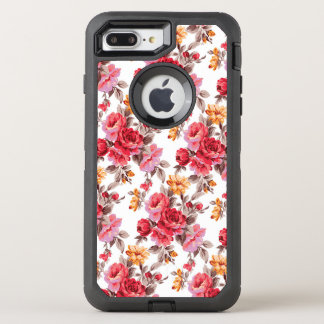 Victorian floral roses pattern otterbox 7 OtterBox defender iPhone 8 plus/7 plus case
