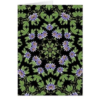 Victorian Floral Vines Card