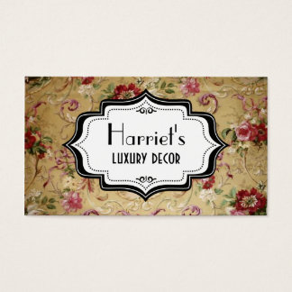 Victorian Floral Wallpaper Business Card