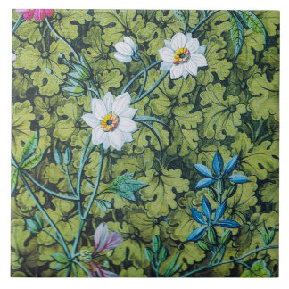 Victorian floral wallpaper tile