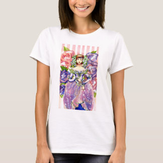 Victorian Floral Watercolor Design T-Shirt