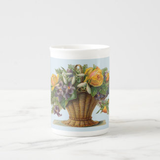 Victorian Flower basket Bone China Mug