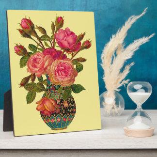 Victorian Flower Vase Decorative Plaque