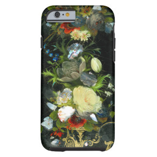 Victorian Flowers Inlaid Mother Of Pearl Tough iPhone 6 Case