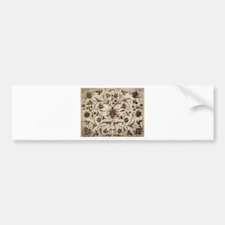 victorian flowers texture bumper sticker