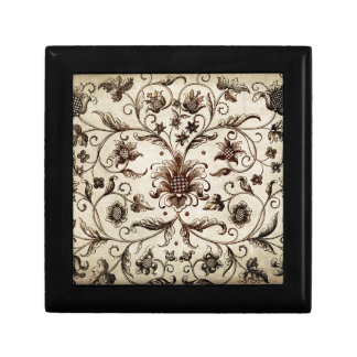 victorian flowers texture gift box