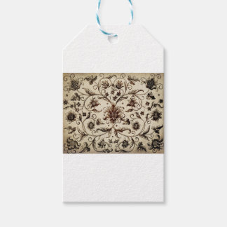 victorian flowers texture gift tags