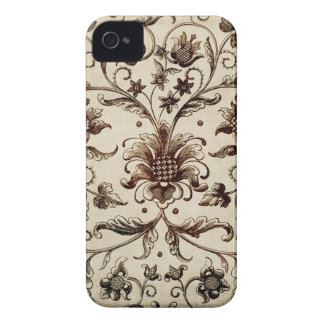 victorian flowers texture iPhone 4 covers