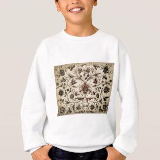 victorian flowers texture sweatshirt