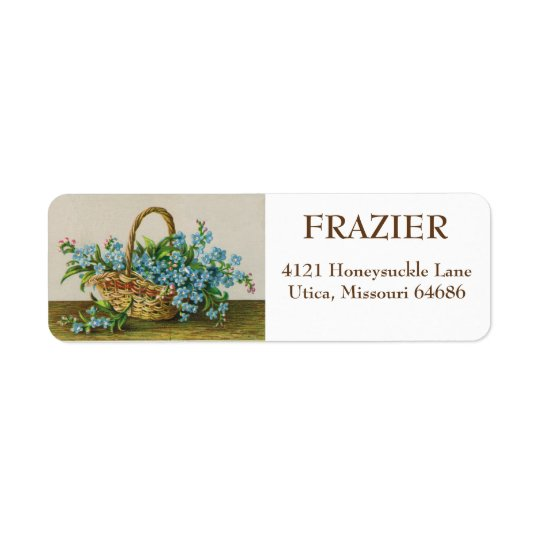 Victorian Forget-Me-Not Blossoms Address Labels