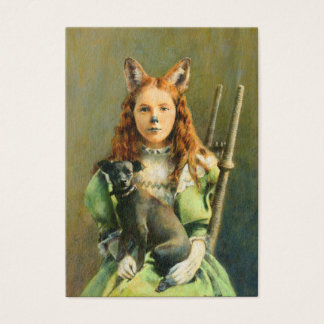 Victorian Fox Girl ACEO Buisness Card