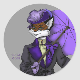 Victorian Fox Sticker