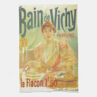 Victorian French bathtub advertisement woman Kitchen Towel