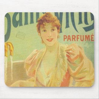 Victorian French bathtub advertisement woman Mousepads