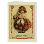 Victorian French Bonne Fête Birthday Card