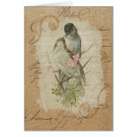 Victorian French Love Birds Love Song Greeting Card