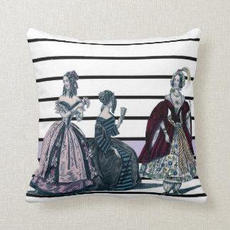 "Victorian Friends Pillow (Cotton 16"" x 16"")"