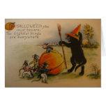 Victorian Frightful Things Halloween Greeting Card